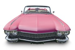 Rosa amerikanisches konvertierbares Auto stockbilder