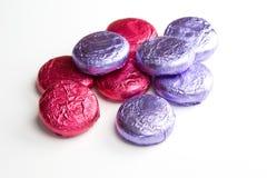 Rosa & a violeta desnatam imagens de stock