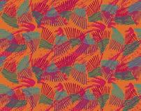 Rosa apelsin för havsskalfreder i krabb modell med textur Arkivfoto