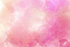 Rosa Aquarellzusammenfassungshintergrund Dunkles Fantasiethema Lizenzfreie Stockfotografie