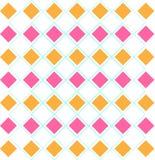 Rosa arancio dei diamanti di gusto squisito del modello di Argyle Immagini Stock Libere da Diritti