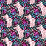 Rosa aufwändiges nahtloses Muster Paisleys Nahtloses Vektormuster kann für Tapete, Musterfüllen, Gewebe, das Gewebe benutzt werde Lizenzfreie Stockbilder