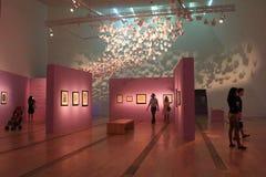 Rosa Ausstellung an ArtScience-Museum Singapur lizenzfreies stockbild