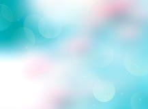 Rosa azul fundo borrado do recurso de verão do bokeh Imagem de Stock
