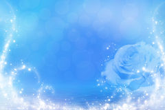 Rosa azul na água Foto de Stock Royalty Free