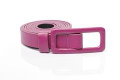 Rosa bälte för konstgjort läder Arkivbilder