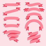 Rosa Bänder eingestellt Stockbilder