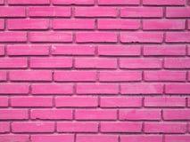 Rosa Backsteinmauerbeschaffenheitshintergrund Stockfotos
