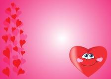 Rosa bakgrund av hjärtor, dag för valentin` s Arkivbild