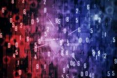 Rosa bakgrund med siffror arkivbild