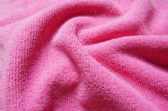 Rosa bakgrund, mjukt microfibertyg Royaltyfri Foto