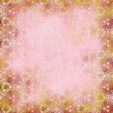Rosa bakgrund Sjaskigt mönstra Arkivbilder