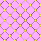 Rosa bakgrundsmodell för skinande guld- stjärna stock illustrationer