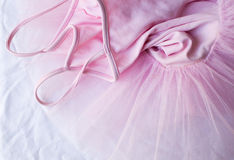 Rosa ballerinakjol (överkanten ner) Arkivbilder