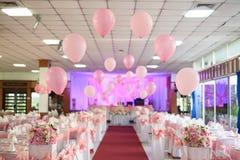 Rosa Ballone und Blumensträuße Lizenzfreie Stockbilder
