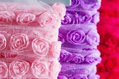 Rosa band Arkivbild