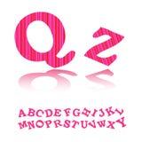 rosa band för alfabet Royaltyfri Foto