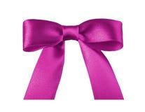 rosa band för bow Arkivbild