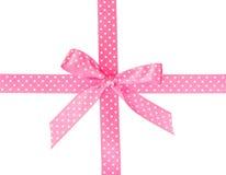 rosa band för bow Royaltyfri Foto