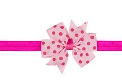 rosa band för bow Arkivbilder