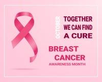 rosa band för cancer Internationell cancermedvetenhetdag isolerat på en bakgrund också vektor för coreldrawillustration royaltyfri illustrationer