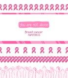 Rosa band, internationellt symbol av bröstcancermedvetenhet vektor illustrationer
