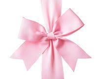 Rosa band och bow för gåva Royaltyfri Fotografi