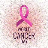 Rosa band som ett symbol av cancer stock illustrationer