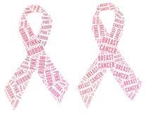 Rosa bandaktion - bröstcancercampign Arkivfoton