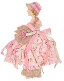 Rosa bandpappersdocka Royaltyfri Bild