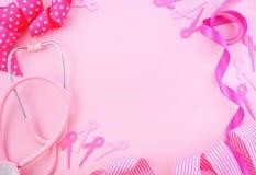 Rosa bandvälgörenhetbakgrund Royaltyfria Bilder