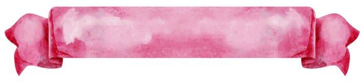rosa bandvektor Hand målade baner som isoleras på vit bakgrund vektor illustrationer