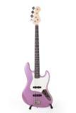Rosa Bass-Gitarre Lizenzfreies Stockbild