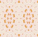 Rosa beige arancio dell'ornamento delicato senza cuciture Fotografia Stock