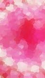 Rosa beige karmosinröd triangulär polygonbakgrund Arkivbild