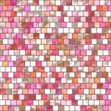 Rosa belägga med tegel för mosaik Royaltyfri Bild