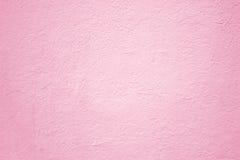 Rosa betongvägg, bakgrund för yttersidatexturmurbruk för desig Royaltyfri Bild