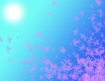 Rosa-Blätter am Tageslicht lizenzfreie abbildung