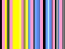 Rosa blåa svarta gula linjer som mousserar linjer, abstrakt bakgrund vektor illustrationer