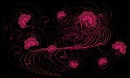 Rosa blüht Hintergrund, Vektor Lizenzfreies Stockfoto