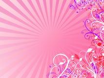 Rosa blom- bakgrund Arkivfoton
