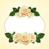 Rosa blommaordning och ram Arkivfoto