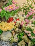 Rosa blommaträdgård Fotografering för Bildbyråer