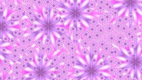 Rosa blommor i spegel splittrar stock illustrationer