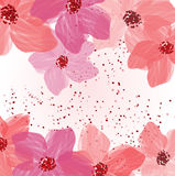 Rosa Blumen Stock Abbildung