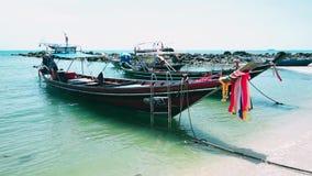 Rosa Blumen-Ansicht-Himmel-Natur-Thailand-Insel Asien stock video footage