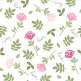 Rosa Blumen Romantisches nahtloses Vektormuster für Valentinstag oder Hochzeit Stockfotos