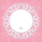 Rosa Blumenblätter eines Kreismusters Stockbilder