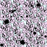 Rosa Blumenlotos nahtloses Muster Lizenzfreies Stockbild