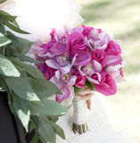 Rosa Blumenstrauß Lizenzfreies Stockfoto